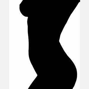 Female silhoutte body. Black and white nudes. Title: Kaitlin